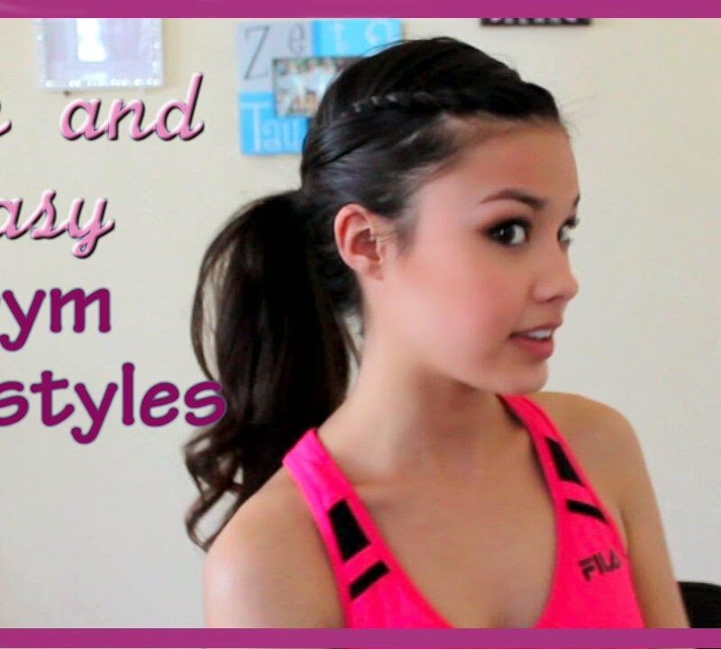 3 Cute, Easy, and Fun Hairstyles for the GYM