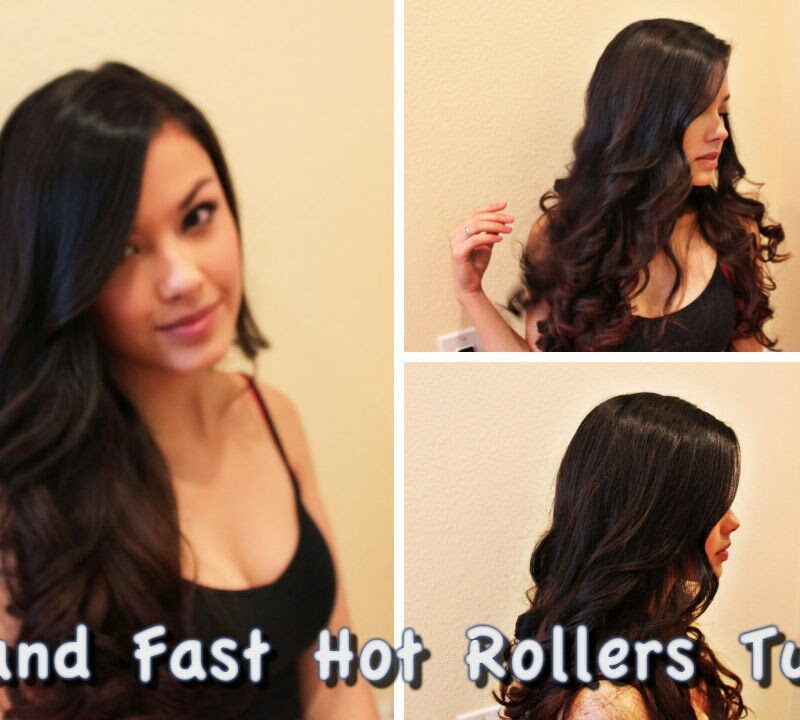 Fast and Easy Bombshell Hot Rollers Hair Tutorial – Low Heat