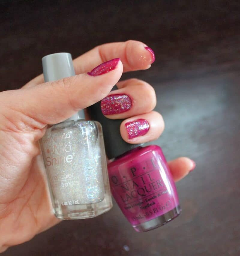 Glittery Plum Nails for Spring!
