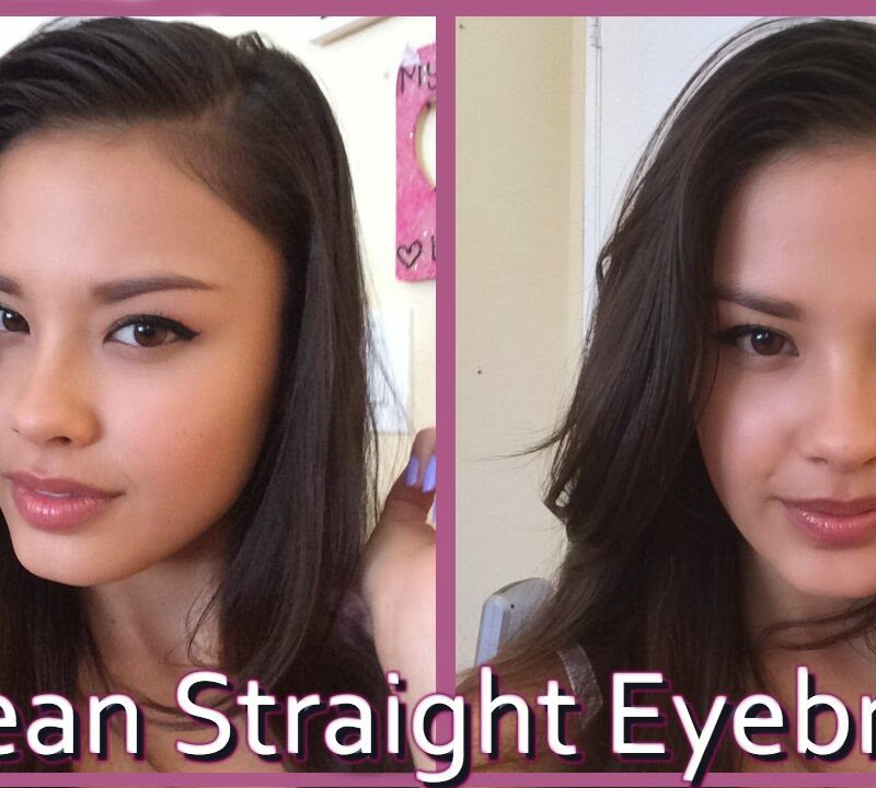 korean straight eyebrow