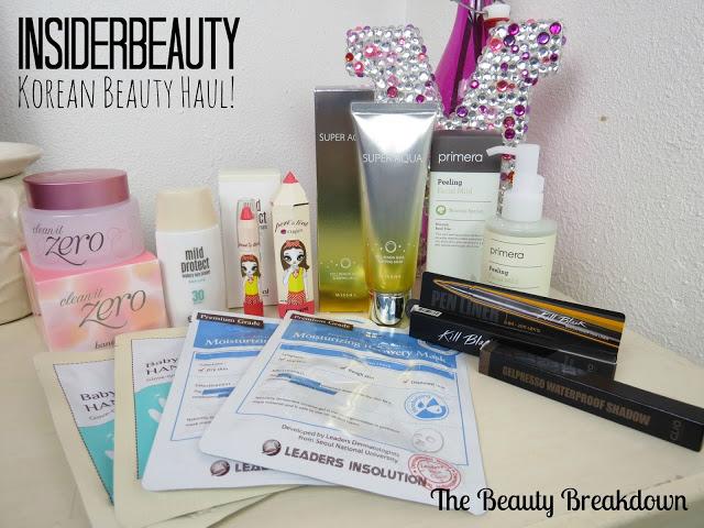 korean beauty haul
