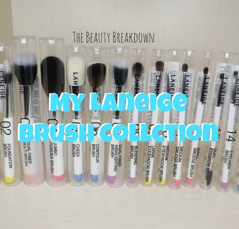 My Entire Laneige Brush Collection