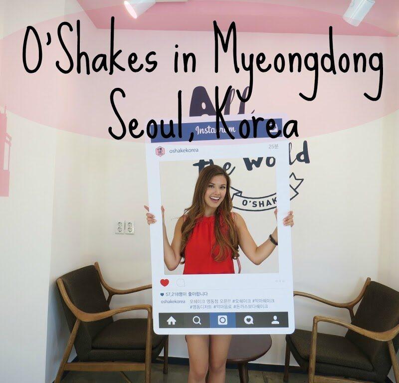 Having Dessert in Myeongdong at O'Shakes | The Travel Breakdown