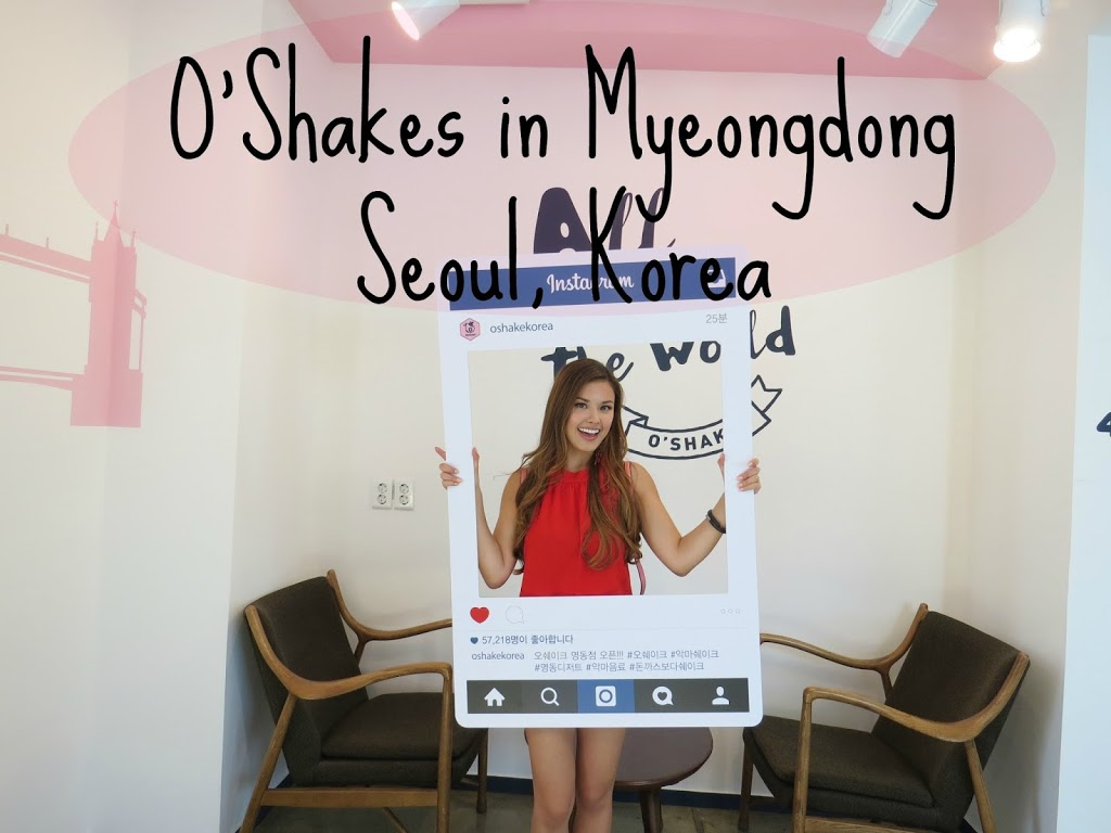 Having Dessert in Myeongdong at O'Shakes | The Travel Breakdown