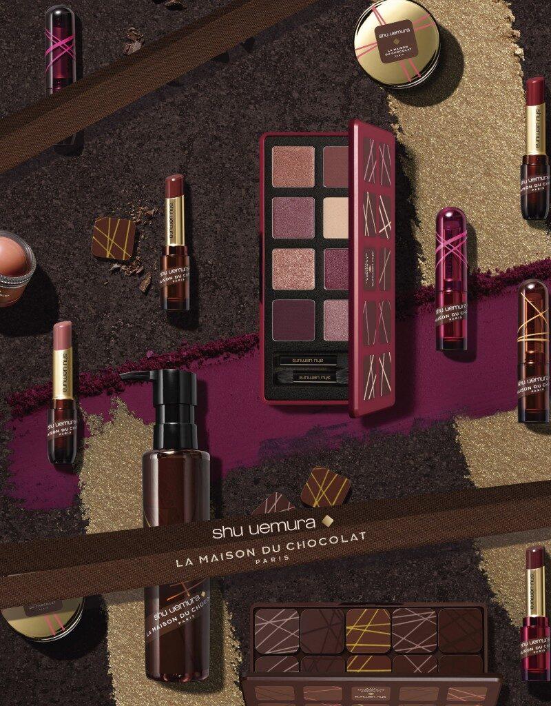 Shu Uemura x La Maison du Chocolat 2018 Holiday Collection Review